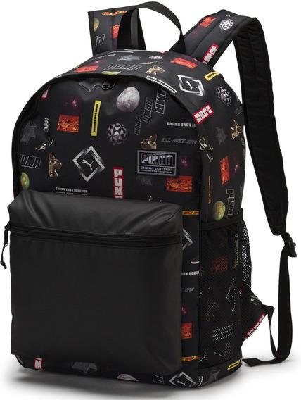 Mochila Puma Urbana Academy Backpack Black Logo