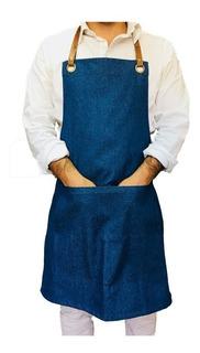 Pechera Jeans Gourmet Con Detalle Superior Cuero Sintético