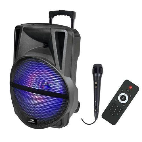 Caixa Amplificada 3500w Portatil Bluetooth Usb Fm Microf Sd