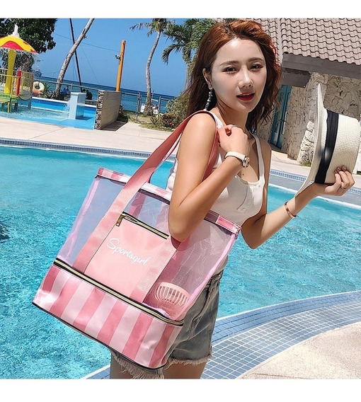 Bolsa Feminina Verão 3 Em 1 Desagner Praia Importada