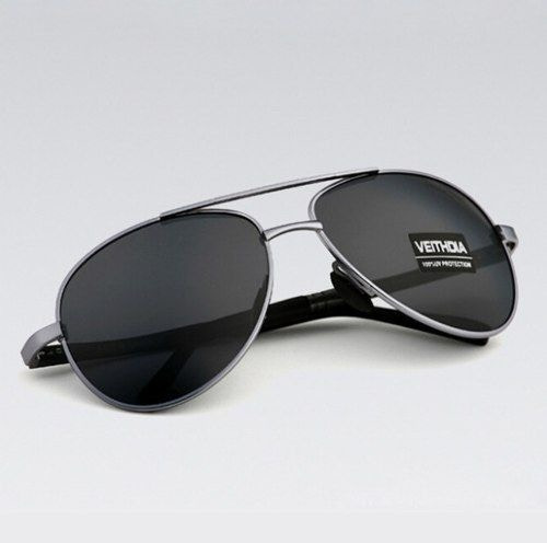 Óculos De Sol Veithdia Polarizado Aviador Unissex Uv400 -