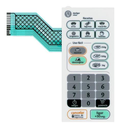 Imagem 1 de 2 de Membrana Teclado Microondas Consul Cms26 Cms 26