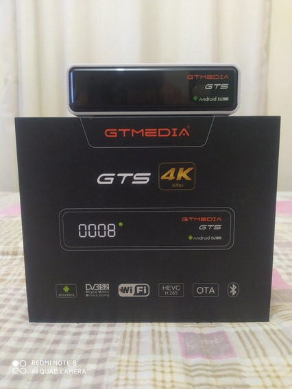 Tv Box Gtmedia Gts Híbrido Android + Tunner Dvb S2.