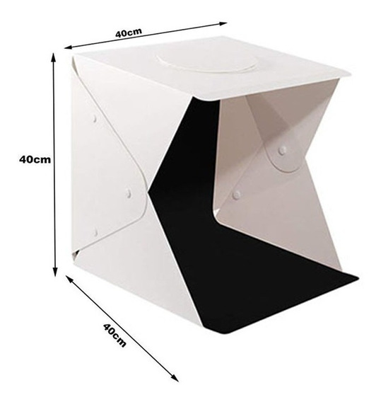 Mini Estúdio Fotográfico Portátil Iluminação 70 Led 40x40x40