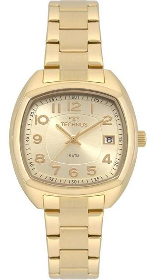 Relógio Technos Feminino Dress Dourado 2115mrj/4x