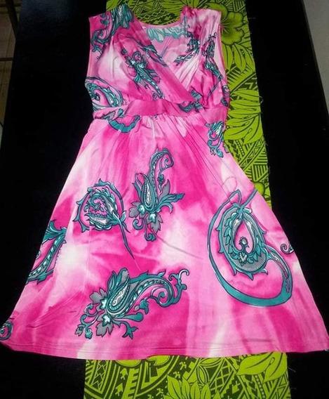 Vestido Fucsia Fuxia Nuevo Con Etiqueta Corto