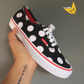 Vans Authentic Polka Dot Black/flery 100% Original