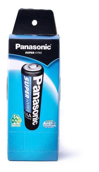 Pilha Palito Aaa 3a R03p Panasonic Caixa 40 Unid Original