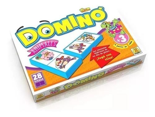 Juego De Mesa Domino Animales Implas Casa Valente
