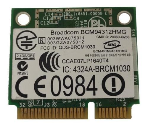 Placa De Rede Broadcom Bcm94312hmg Dell Inspiron 15
