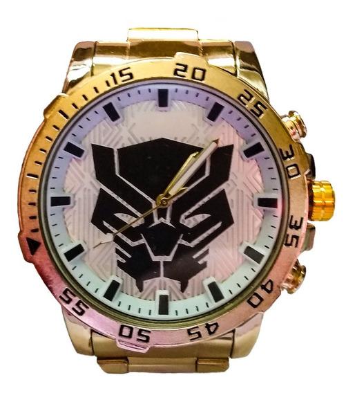 Relógio Masculino Dourado Thundercats Rx Branco
