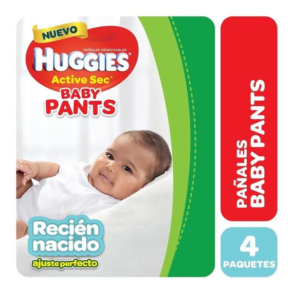 Pañales Huggies Active Sec Baby Pants P Pack X 4