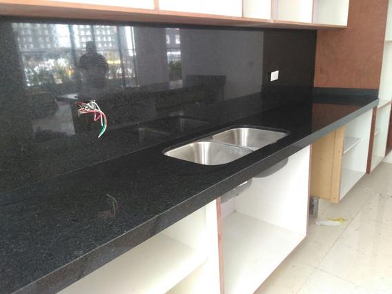 Cubiertas De Granito Negro San Gabriel 2400 Ml Instalada
