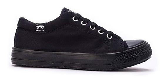 Zapatillas Jaguar 320 Mujer Negro Blanco Jean Envio Gratis