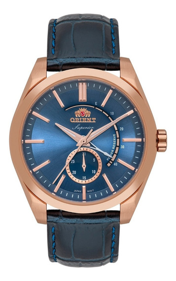 Relógio Orient Masculino Automatico Ne5rc001 A1dx Rose Azul