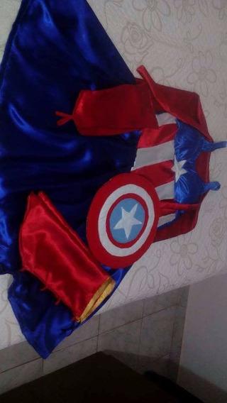 Vestido Mae E Filha Capitao America