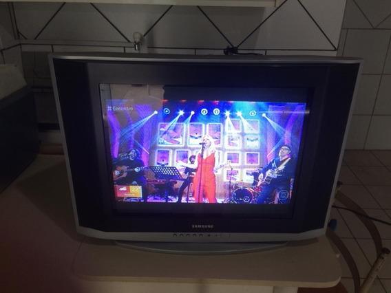 Tv Samsung 21 Polegadas Estéreo Tela Plana!