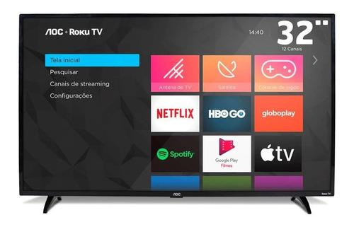 Smart Tv 32 Polegadas Aoc Led Roku 3 Hdmi 1 Usb