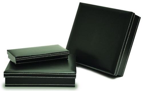 Caja De Regalo Simil Cuero X 10 Unid - 22 X 20 X 5 Cms