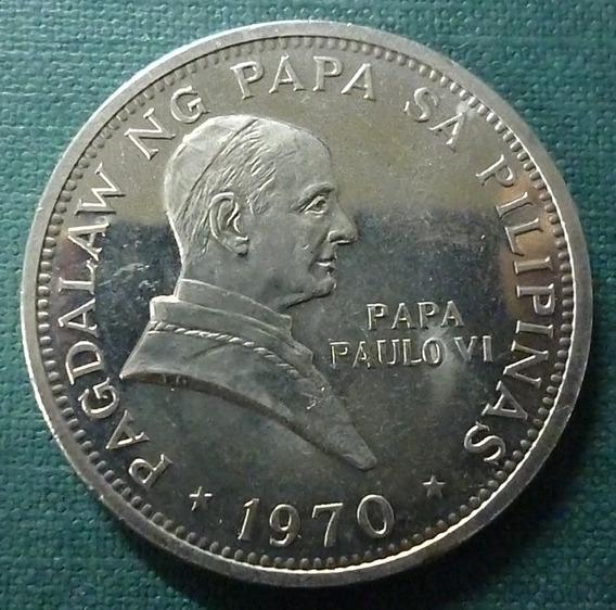 Filipinas Moneda 1 Piso 1970 Unc Papa Pablo V I Km 202