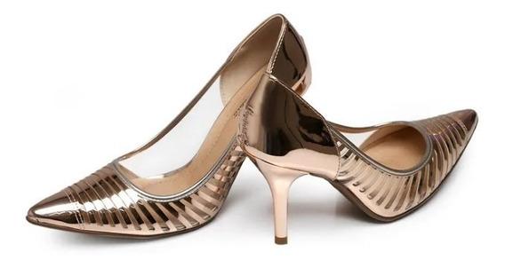 Sapato Feminino Scarpin Beira Rio Transparente 4122