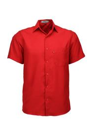 Camisa Microleve Manga Curta - Vermelho - Ref 440