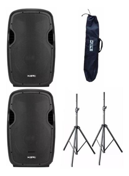 2 Caixa Ativa 12 Ksr Pro K812 Bluetooth +tripe +bag / Loja