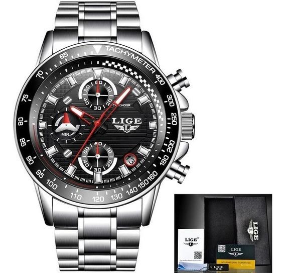 Relógio Masculino Lige Modelo 9837 30 Metros