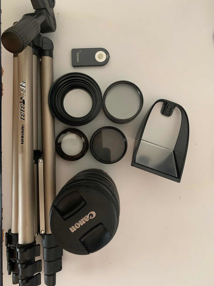 Filtros+lente+tripé+shutter+difusor Canon