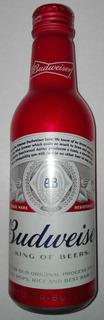 Botella Cerveza Budwieser De Alumiño De Usa Llena