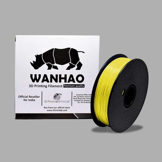 Filamento 3d Pla Premium 1 Kg Wanhao Amarelo (yellow)