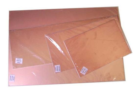 4 Placas De Fenolite Simples 10x30 + Percloreto + Caneta