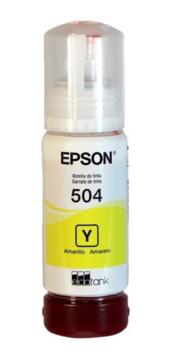 Botella De Tinta Epson Cian T504220-al