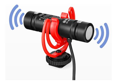 Imagem 1 de 7 de Microfone Boya By-mm1 Pro Dual Mic P/ Câmera Dslr Smartphone