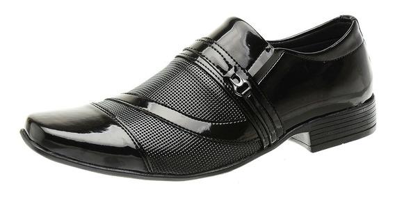 Sapato Social Sem Cadarço Masculino Verniz Impacto - 1061e