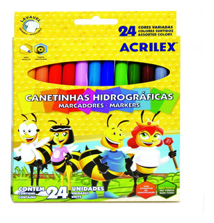 Marcadores Escolares Acrilex X 24 Colores