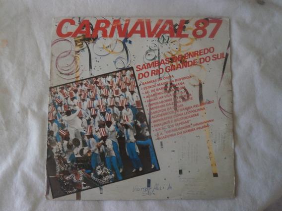Lp Sambas De Enredo Do Rio Grande Do Sul Carnaval 87, Vinil