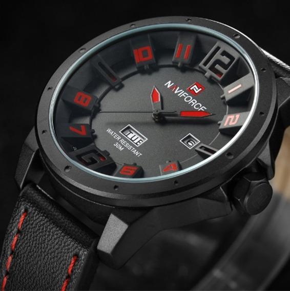 Relógio Masculino Naviforce 9061 De Pulso Original Fr Grátis