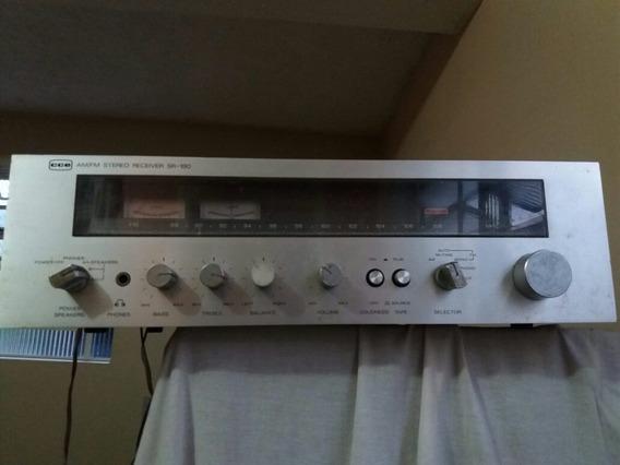 Receiver Vintage Marca Cce Modelo Sr 180 Voltagem 220 V Ótim