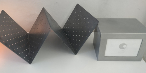 Set Escritorio De Metal: Caja + Revistero O Porta Libros