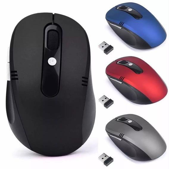 Mouse Óptico Sem Fio Usb Wi-fi Para Notebook E Pc