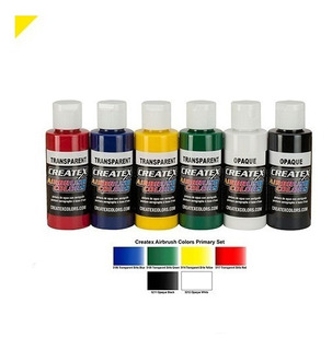 Pintura Para Aerografo Createx Colors Primarios 6/50ml