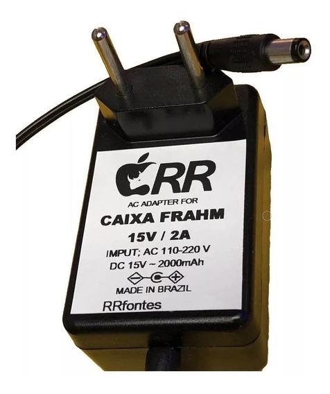 Fonte Carregador 15v Caixa De Som Frahm Cl 200 12v Multiuso