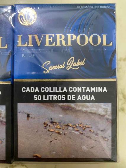 Cigarrillos Liverpool Blue Suaves Pack Por 10 Atados