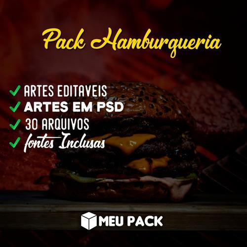 Pack Hamburgueria 100% Editável Psd 30 Arquivos+ Fonts
