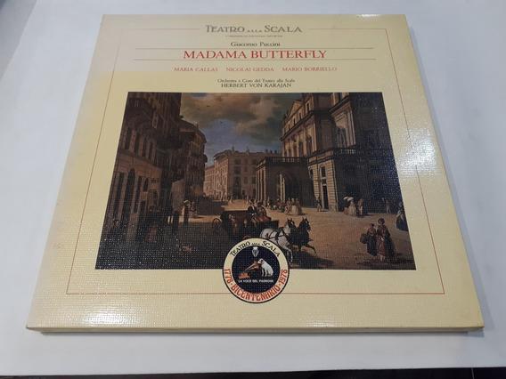 Madama Butterfly, Puccini, Callas, Karajan 3lp Box Italy Nm