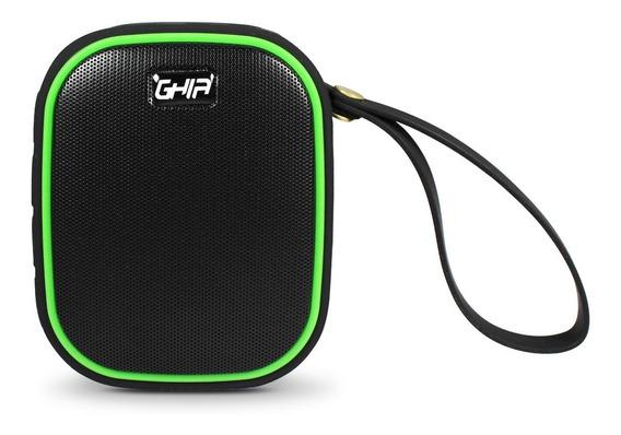 Bocina Bluetooth Waterproof Vortex Ghia Negra/verde 3w2 Rms