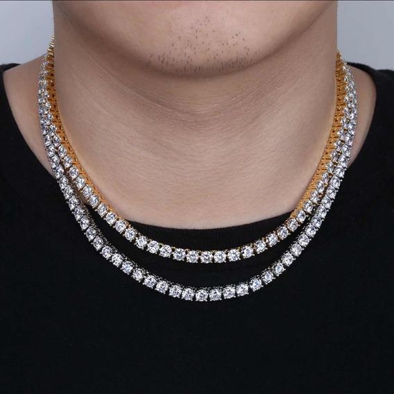 Cadena Tennis Chain Oro Rosa 14k Piedra 5mm Ig: @bymjewelry