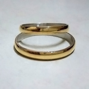 69e8bbb3a05f Par Alianzas Plata 925 Oro 18k - Casamiento Matrimonio Boda
