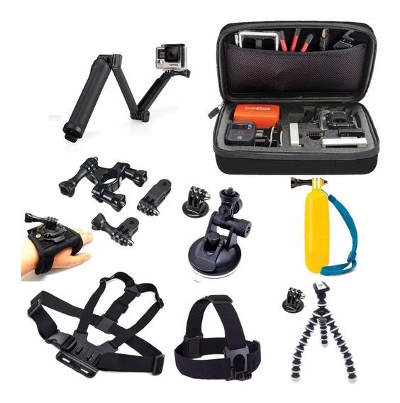 Conjunto Com Acessórios Gopro Hero Kit Go Pro 4 5 Black